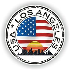 Seal Sticker of USA Los Angeles Stamp Bumper Roundel Laptop Car Truck