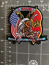 U.S. Marines United States Marine Corps Patch USMC These Colors Never Run Flags