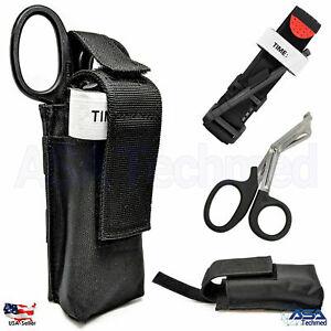 One Hand Tourniquet Combat Application First Aid + Trauma Shear+ Molle Pouch