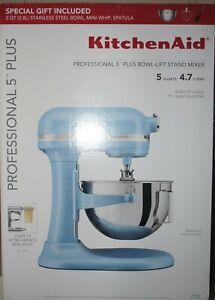 New Kitchenaid KP25M0XVB Professional Plus 5 Quart Bowl-Lift Stand Mixer Bundle