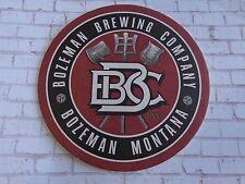 "Beer Collectible Breweriana Coaster ~ BOZEMAN Brewing Company ~ MONTANA ""Bozone"""