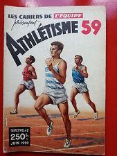 LES CAHIERS DE L'EQUIPE ATHLETISME 1959