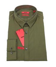 HUGO BOSS Herren Hemd Freizeithemd Businesshemd grün XL