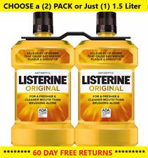 ✔️Listerine Original Antiseptic Mouthwash for Bad Breath, 1.5 L *FREE RETURNS*