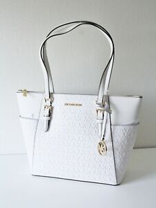 Michael Kors Charlotte LG Tz Tote Bag White 35T0GCFT