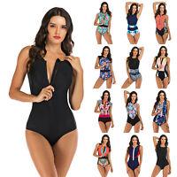 Women's Sleeveless Swimsuit One-Piece Rash Guard UV Protection Surfing Swimwear