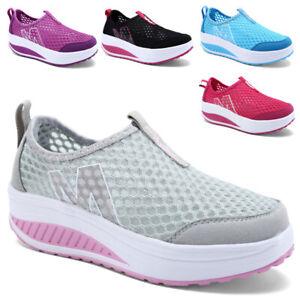 Damen Sportschuhe Laufschuhe Sneaker Turnschuhe Slip On Plateauschuhe Freizeit