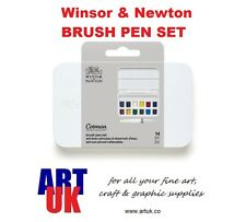 Winsor & Newton Cotman acquerelli artisti Brush Pen Set metà Padelle