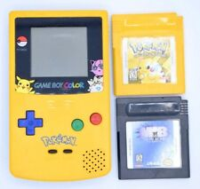 Nintendo Gameboy Color Yellow Pokemon Pikachu CGB-001 Works! 2 Games Included