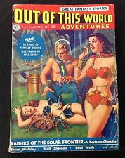 "DEC. 1950 ""OUT OF THIS WORLD"" ADVENTURES V1#2 SCI-FI PULP KUBERT COMIC BOOK ART"