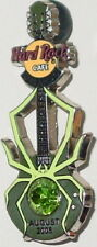 Hard Rock Cafe Orlando 2005 Birthstone Spider Guitar Series Pin #8/12 August Hrc