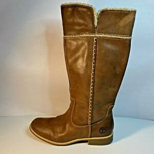 TIMBERLAND WOMENS BROWN KNEE BOOTS EARTHKEEPERS 25669M  SIZE 9