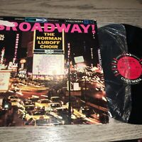 Vintage The Norman Luboff Choir Broadway!  Vinyl LP CS 8052