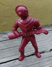 VTG ARCHER AJAX STYLE RED SPACEMAN FIGURE MARX WITH GUN ASTRONAUT TO THE MOON
