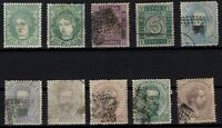 P133254/ SPAIN – 1870 / 1872 USED CLASSIC LOT – CV 470 $