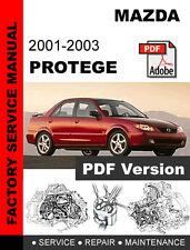 MAZDA 2001 2002 2003 PROTEGE FACTORY SERVICE REPAIR WORKSHOP FSM MANUAL