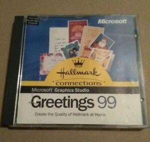 Microsoft Graphics Studio CD-ROM Greetings 99 windows software disk