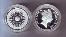 1989 50 Cent SILVER Coin Silver Jubilee ex Masterpieces in Silver Set -