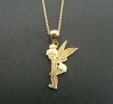 Tinkerbell Disney JCM Gold Vermeil over Sterling Silver 925 Pendant Necklace