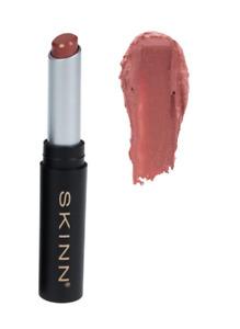 SKINN Cosmetics Skinn Lustrous Lips Satin Lipstick in Kissable NEW SEALED!
