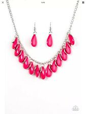 Paparazzi Jewelry Necklaces - Tropical Storm - Pink