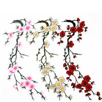 Blossom Flower Applique Clothing Embroidery Patch Stickers Iron On Sew Cloth DIY