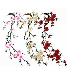 Blossom Flower Applique Clothing Embroidery Patch Sticker Iron On Sew Cloth Pink