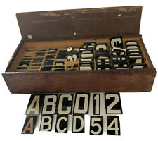 Lot Vintage Metal Changeable LETTER Number Set Outdoor SIGN Reader Board Craft