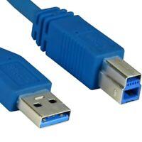 USB 3.0 kurzes Anschluss Kabel BLAU 0,5m kurz Anschlusskabel A B AB DRUCKER HDD