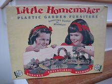 Vintage Little Homemaker Dollhouse Plastic Garden Funiture Set Orig. Box Plasco