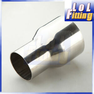 """Stainless Steel 2.5"""" inch OD To 3"""" inch OD Turbo/ Exhaust Reducer Connector Pipe"""