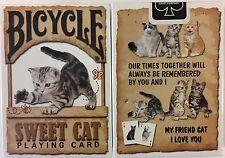Sweet Cat Bicycle Playing Cards Poker Size Deck USPCC Limited Custom New Sealed