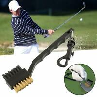 Groove Brush Kit Tool Golf Club Ball 2 Sided Nylon W Cleaning Cleaner CL S9T9