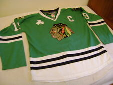 NHL Chicago Blackhawks shirt jersey Reebok 52 XXL Jonathan Toews Green Premier
