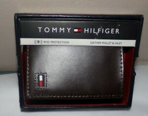 NIB MENS Tommy Hilfiger TRI-Fold Wallet / Card Holder~BROWN
