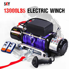 12V Wireless Synthetic Purple Rope 13000LBS/5897KGS Electric Winch 4WD 4x4 Boat