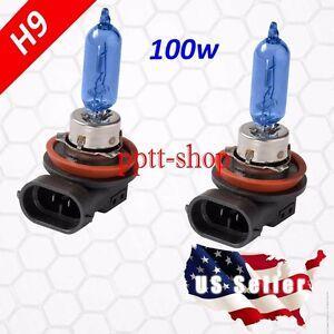 H9 Halogen 100w Xenon Headlight Bright White 5000K Light Lamp Bulb High Beam
