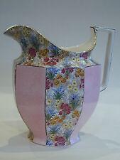 Rare Original Royal Winton Grimwades  Pink 'Marguerite' chintz HUGE Jug!