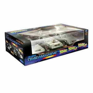 1:24 Back to the Future Trilogy Gift DeLorean Replica Set