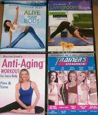 Women's Wellness Fitness Lot Abs Yoga Balance Energy Anti-Aging 4 Dvds New