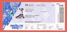 Orig.Ticket    Olympic W.Games SOCHI 2014  -  Figure Skating Team Final !!  RARE