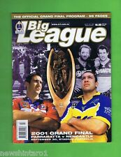 #OO.  2001  RUGBY LEAGUE GRANDFINAL PROGRAM - KNIGHTS V PARRAMATTA EELS