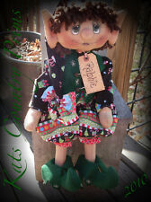 Primitive Raggedy Holiday Elf PAPER  PATTERN #134 Ralphie the Elf