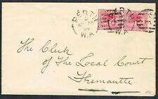 More details for 1899 western australia perth - fremantle 2x 1d perth duplex b/s fremantle