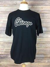 Anvil Men's Black Large Short Sleeve Chicago T-Shirt, 100% Cotton, A2