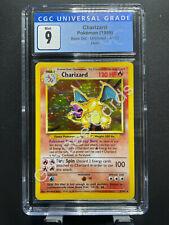1999 Pokemon Base Unlimited CHARIZARD - Holo 4/102 - CGC 9 Mint