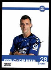 Koen van der Biezen Autogrammkarte Karlsruher SC 2013-14 Original + A 108769