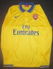 2013-2014 Nike Arsenal FC Long Sleeve Away Gold Jersey Shirt Gunners AFC LS