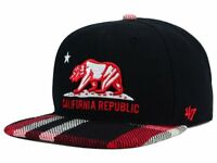 '47 Brand California Republic South Gate Plaid Snapback Adjustable Hat Cap AD