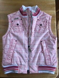 686 Youth Girls Plaid Pink Snowboard Ski Winter Snow Vest Size M NEW w/o tags